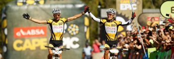 1st victory in the Absa Cape Epic C. Sauser-B. Stander