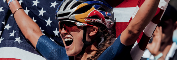 Kate Courtney wins UCI MTB World Championship with Q RINGS and 2INpower